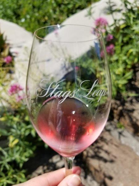 ナパのスタッグス・リープ・ワイナリー (Stags' Leap Winery)。テイスティングツアー。ロゼワインの試飲。