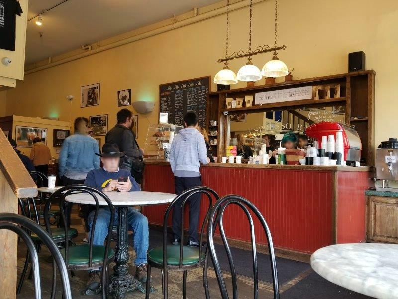 カリフォルニア州・ナパのダウンタウン。Napa Valley Coffee Roasting Co.