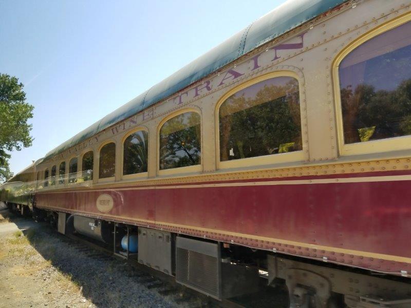 カリフォルニア州・ナパのワイン列車。(ナパバレー・ワイン・トレイン)