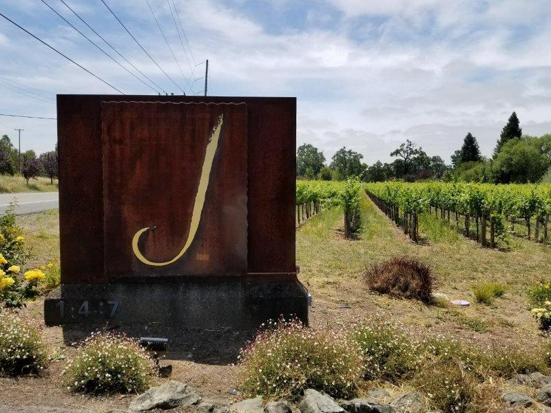 ソノマのワイナリー、ジェイ・ヴィンヤーズ。(j vineyards)