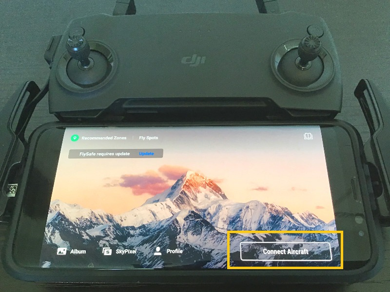 DJI Mavic Mini DJI Fly アプリとドローンの接続