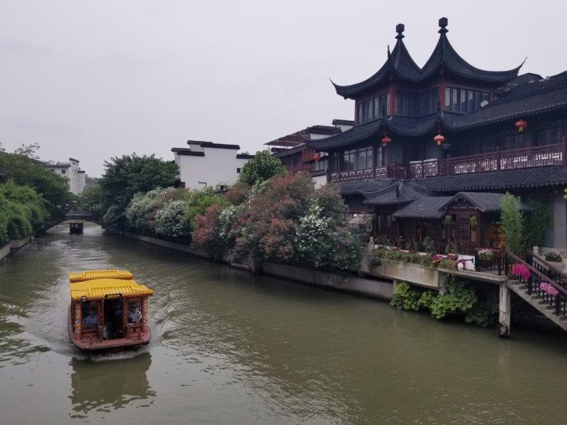 南京・夫子廟景区の秦淮河