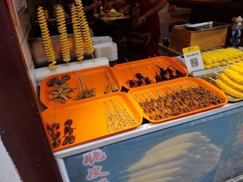 上海観光・七宝老街の食品街