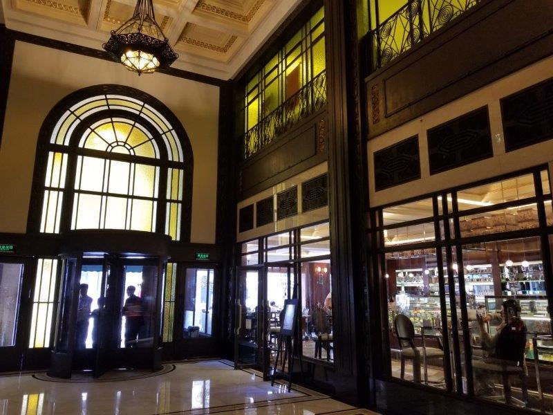 上海のフェアモント・ピース・ホテル。ビクターズ・カフェ。
