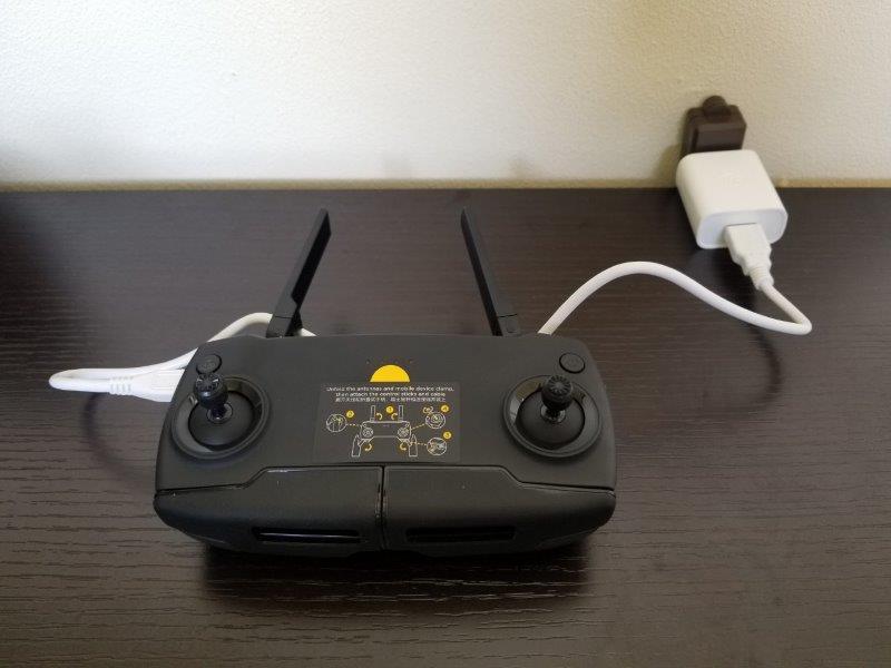 DJI Mavic Mini コントローラーの充電