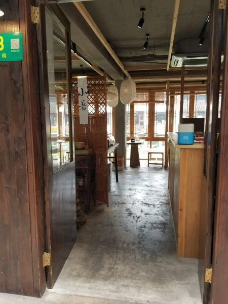 上海近郊の七宝老街。川沿いの茶屋。
