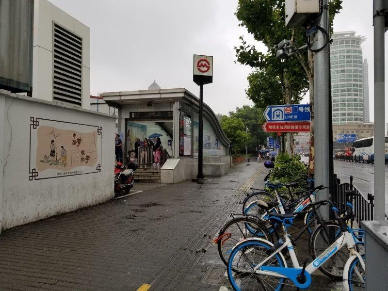 ルネッサンス 上海 豫園 ホテル 向いの地下鉄・豫園駅