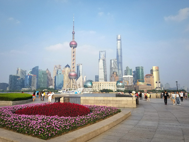 外灘から眺める上海のスカイライン
