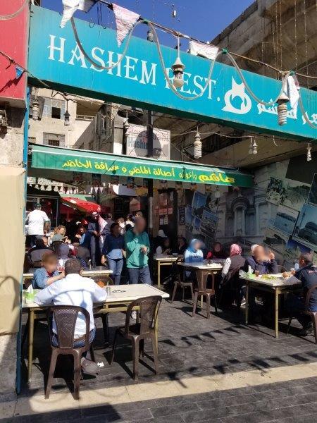 ヨルダン・アンマンダウンタウンのローカルレストラン。