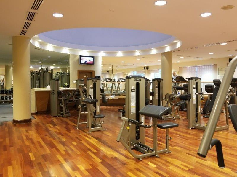 ヨルダンのインターコンチネンタルホテル・アンマン(InterContinental Amman)。フィットネスセンター。。