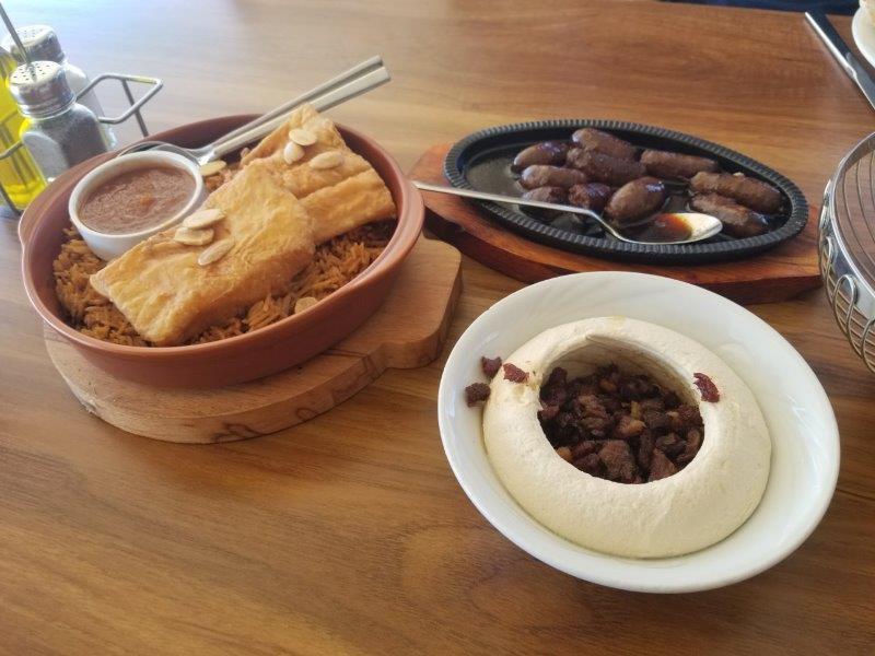 ヨルダン・死海リゾートの中東料理レストラン、Ocean Restaurant (オーシャン・レストラン)。