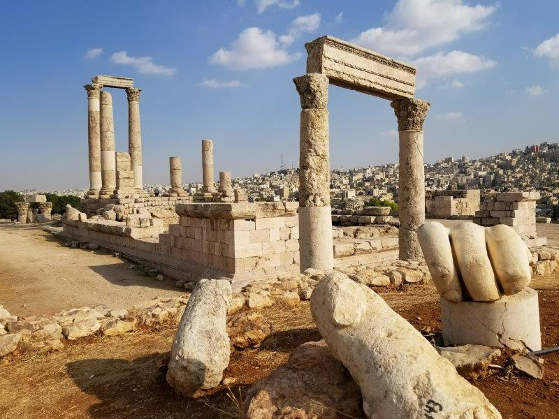 ヨルダンのアンマン城塞(シタデル)・ヘラクレス神殿