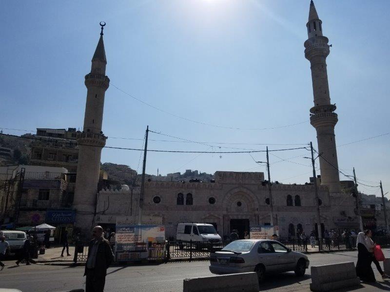 アンマンの中心部にある、フセイン・モスク(アル・フセイニ・モスク)