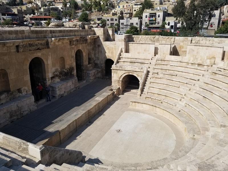 ヨルダンの首都アンマンのオデオン劇場