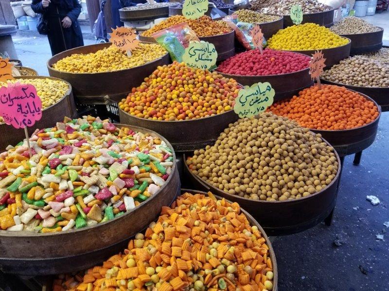 ヨルダンの首都アンマンのスーク(市場)
