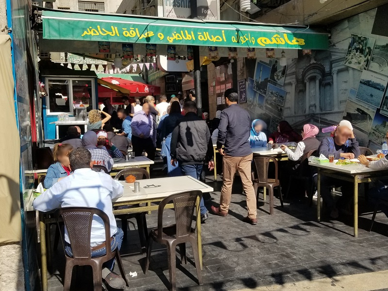 ヨルダンの首都アンマンのストリートフード