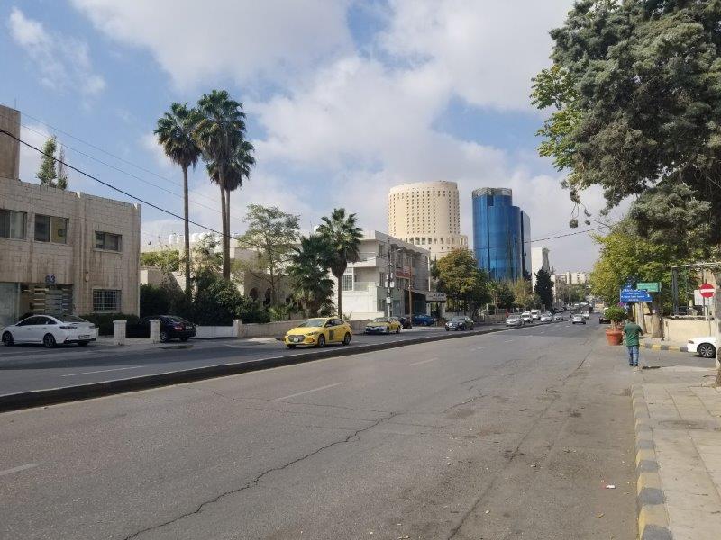 ヨルダンの首都アンマンのセカンドサークル付近