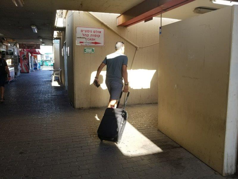 イスラエル・エイラットのバスステーション。