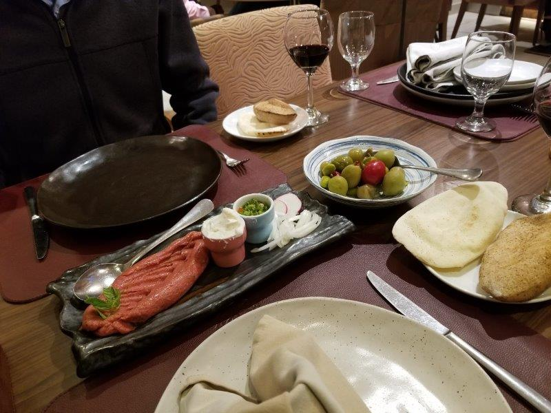ヨルダン・アンマン観光。本格レバノン料理のレストラン「Levant(レバント)」。