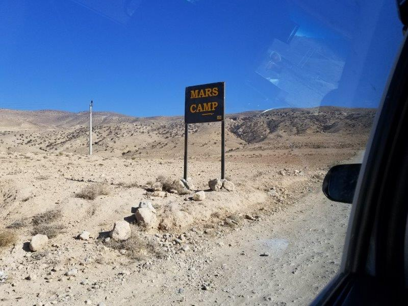 ヨルダン旅行。ペトラ近くのマーズ・キャンプ。