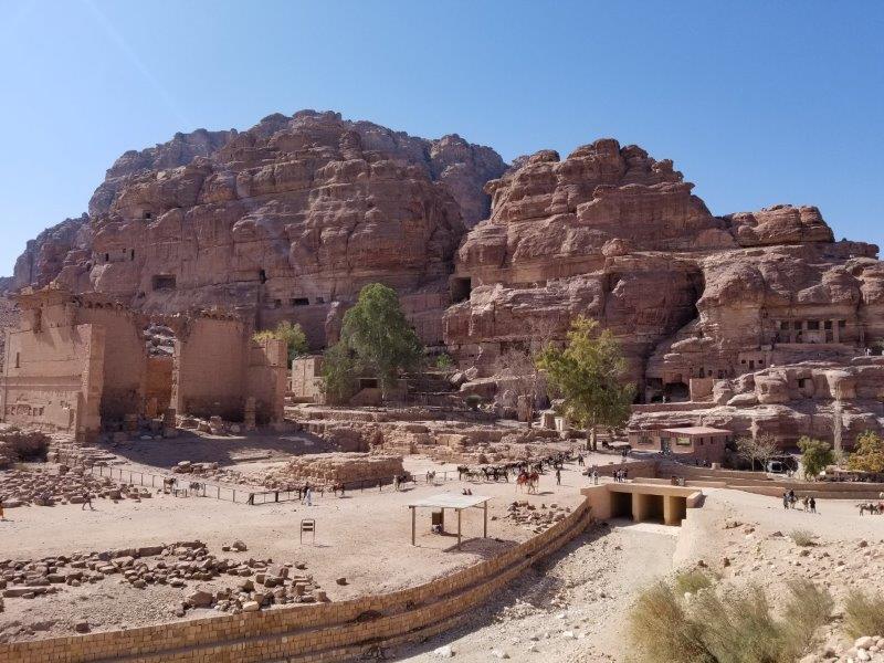 ヨルダン旅行・ペトラの街の中心