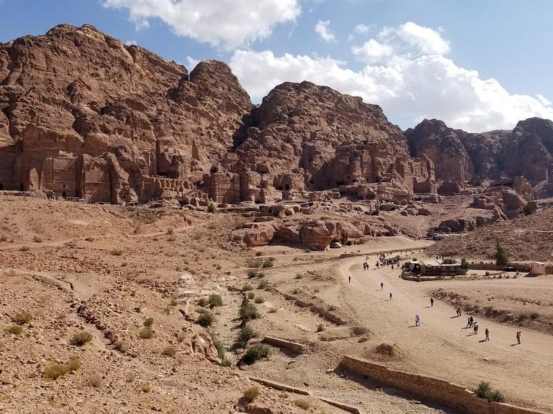 ヨルダン旅行・ペトラの市街地跡