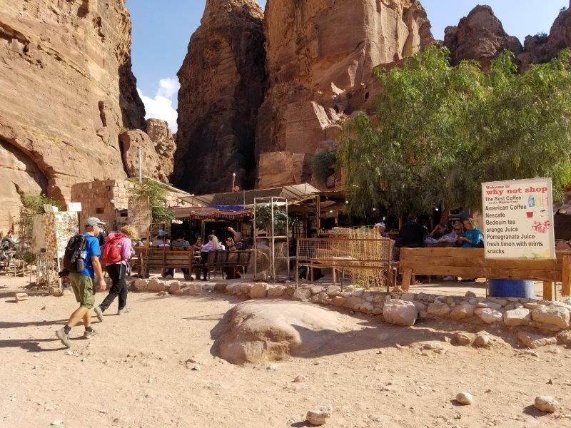ヨルダン旅行・ペトラの売店。