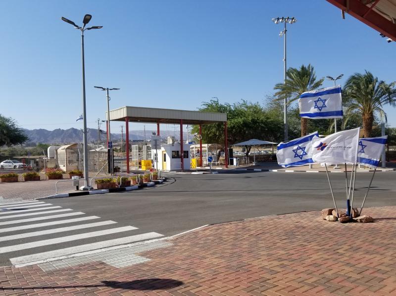 ヨルダンとイスラエルの国境・ワディアラバ。