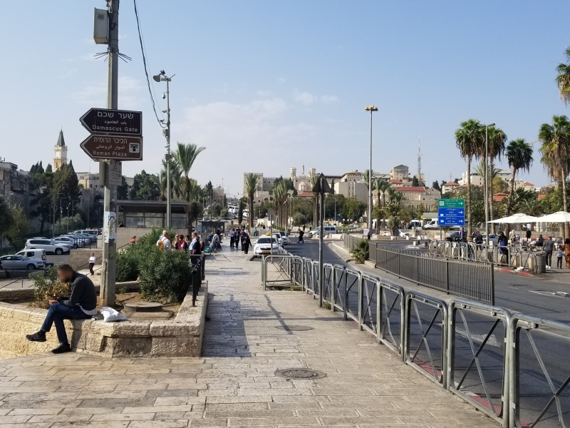 イスラエル旅行・エルサレムのダマスカス門周辺