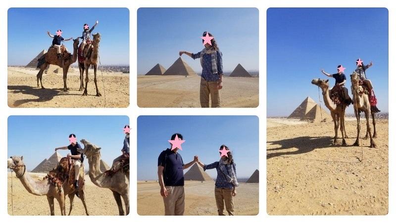 ピラミッドツアーでガイドさんが撮ってくれた記念写真。