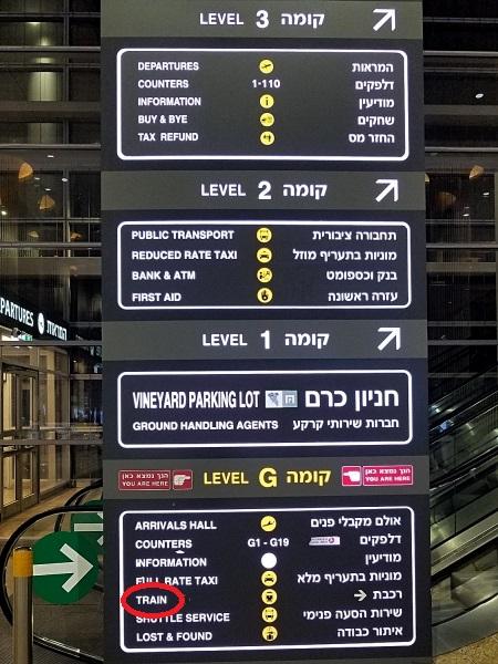 イスラエル旅行・ベングリオン空港