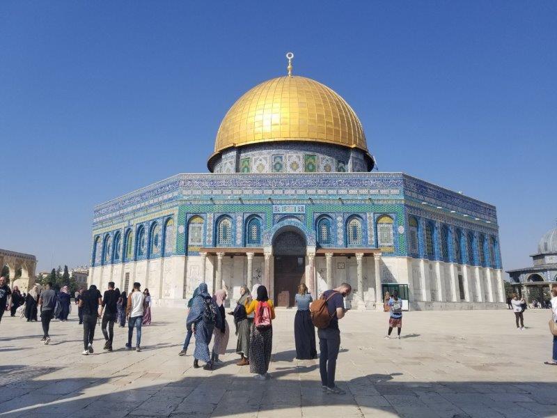 エルサレムの聖地岩のドーム