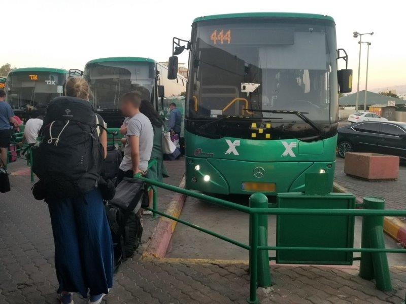 イスラエル旅行。エゲッドバス。エイラットのバスステーション。