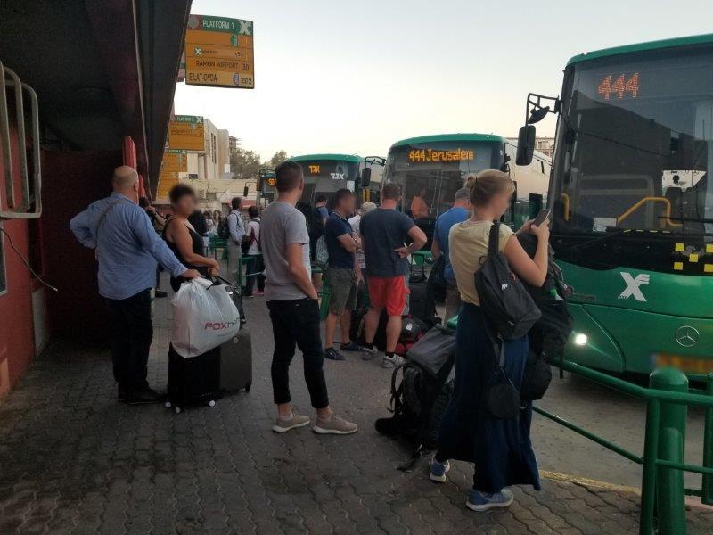 イスラエル旅行。エゲッドバス。エイラットのバスセンター。