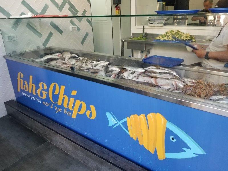 イスラエル旅行・ヤッファのフィッシュアンドチップスのレストラン