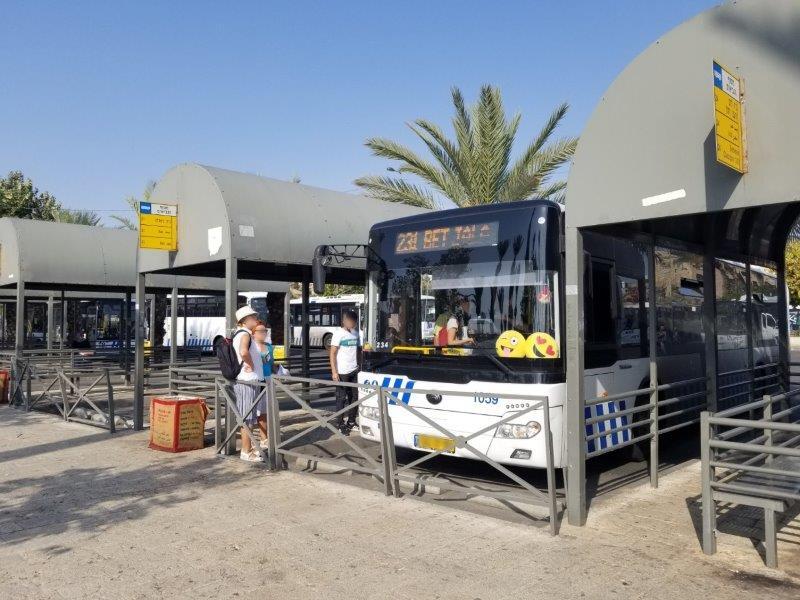 エルサレムからベツレヘムへ・アラブバス乗り場