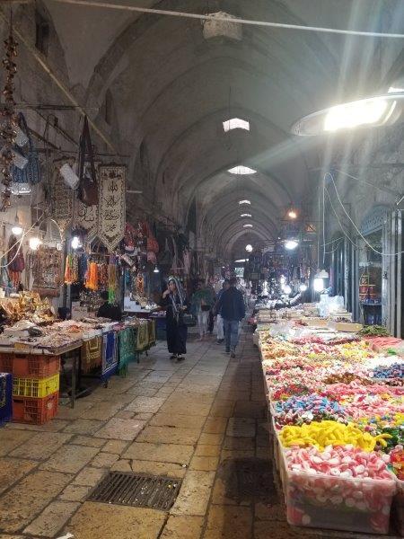 イスラエル旅行・エルサレム旧市街の商店街