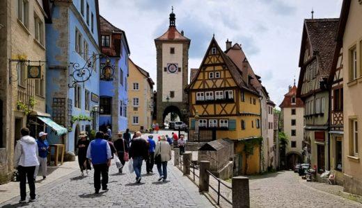 【ドイツ】ロマンティック街道とローテンブルクの街並み