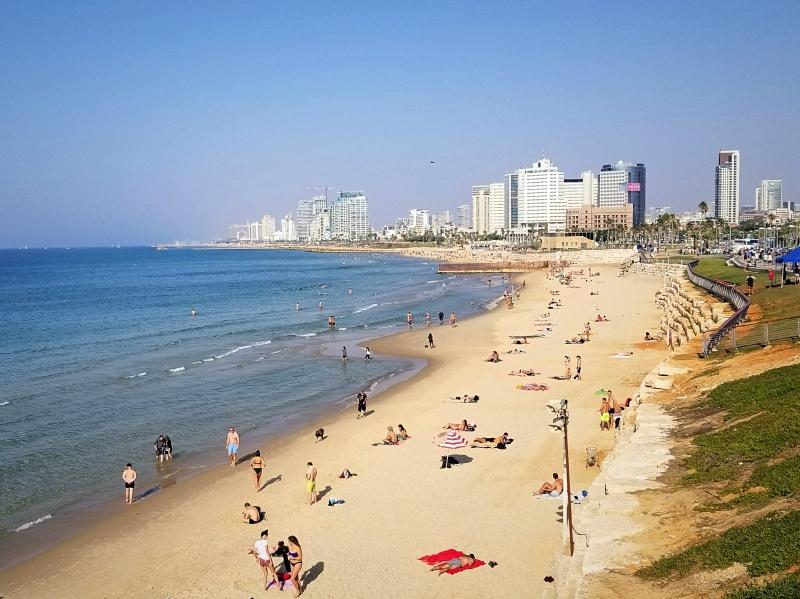 イスラエル旅行・テル・アビブのビーチ