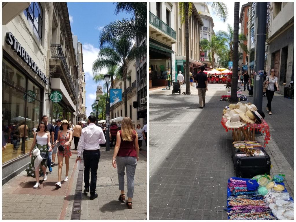 ウルグアイ・モンテビデオ観光「Peatonal Sarandí 通り」