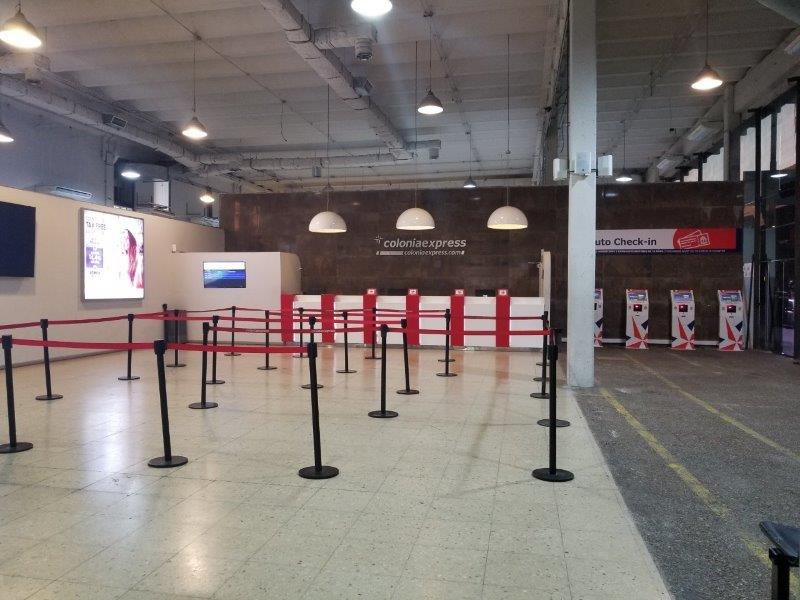 ブエノスアイレスとウルグアイを結ぶフェリーのターミナル