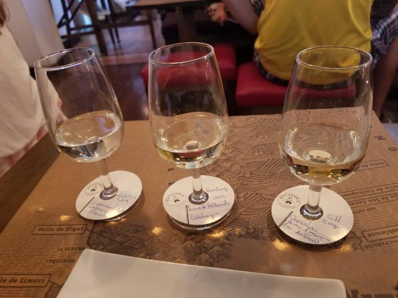 チリ・サンティアゴ観光。チリワインのセレクションが豊富なワインバー&レストラン。