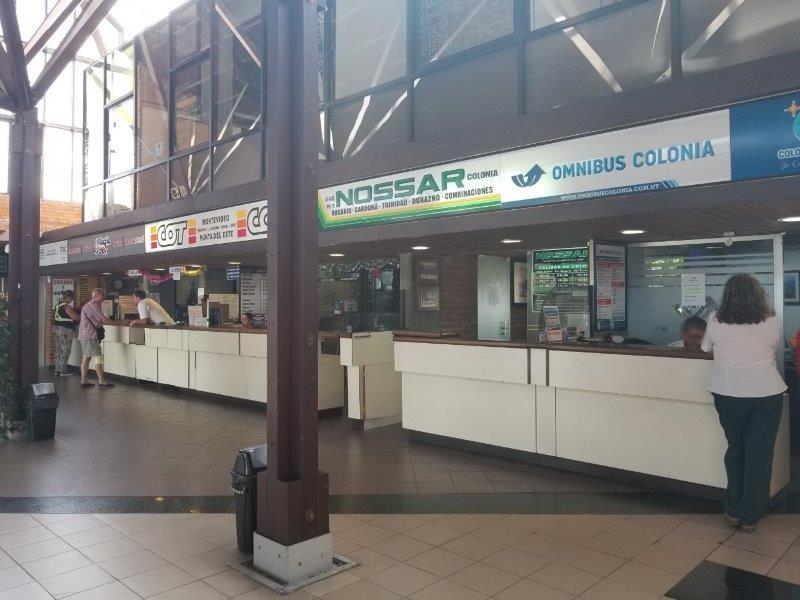 ウルグアイ「コロニア・デル・サクラメント」のバスターミナル