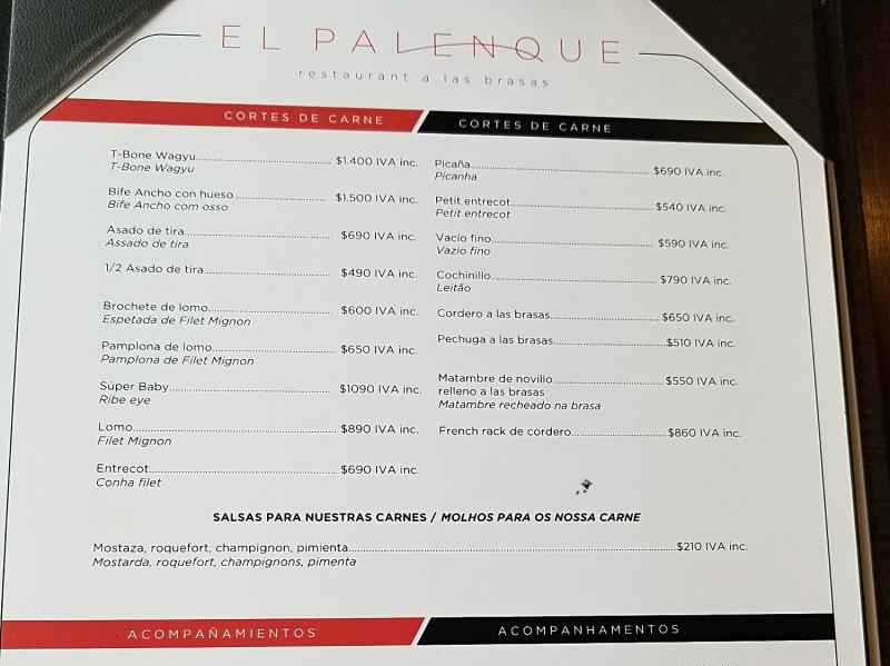 ウルグアイ・モンテビデオのプエルト市場。ステーキハウス「El Palenque」