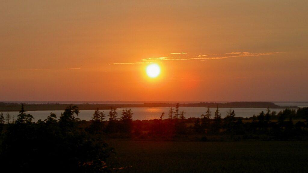 カナダ・プリンスエドワード島の夕日