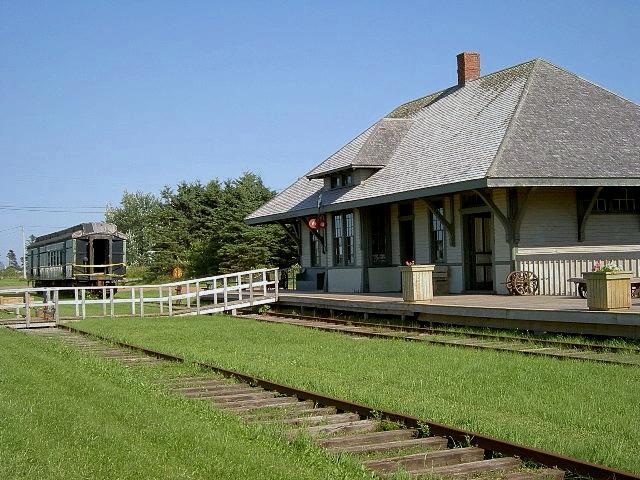 カナダ・プリンスエドワード島の鉄道博物館