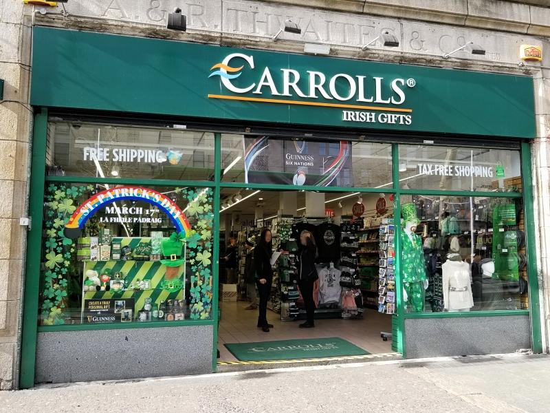 アイルランド・ダブリンの緑のお土産屋