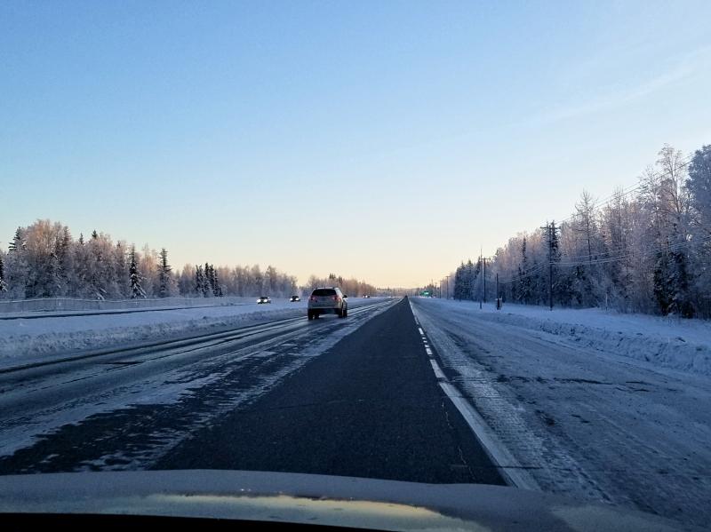 アラスカ・フェアバンクスの道路状況